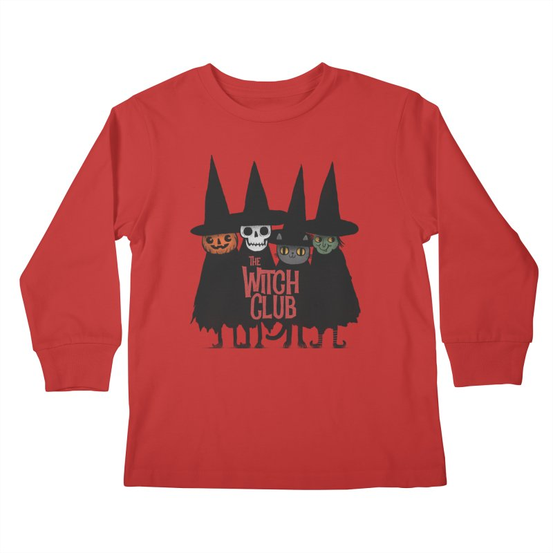 Witch Club Kids Longsleeve T-Shirt by Pepe Rodríguez