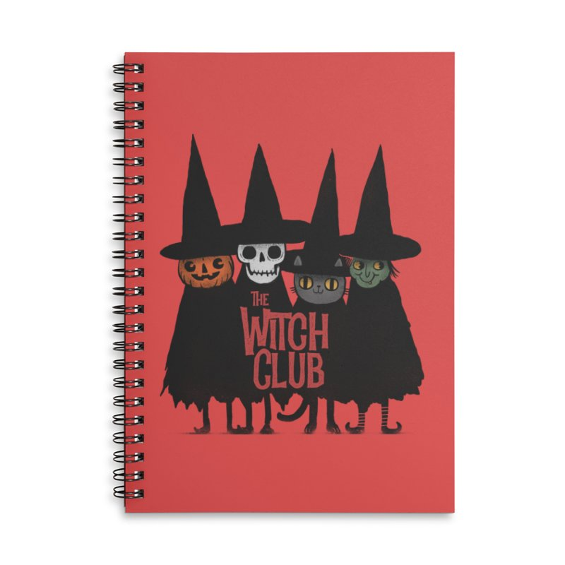 Witch Club Accessories Lined Spiral Notebook by Pepe Rodríguez