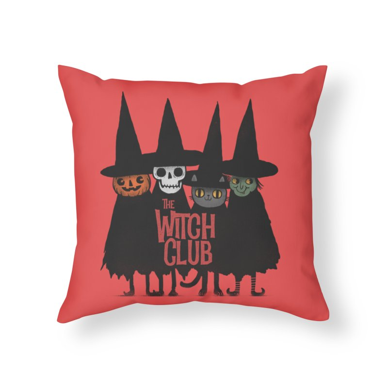 Witch Club Home Throw Pillow by Pepe Rodríguez