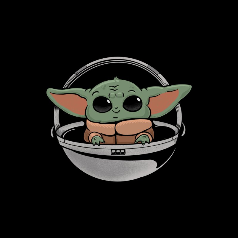 Baby Yoda Accessories Magnet by Pepe Rodríguez