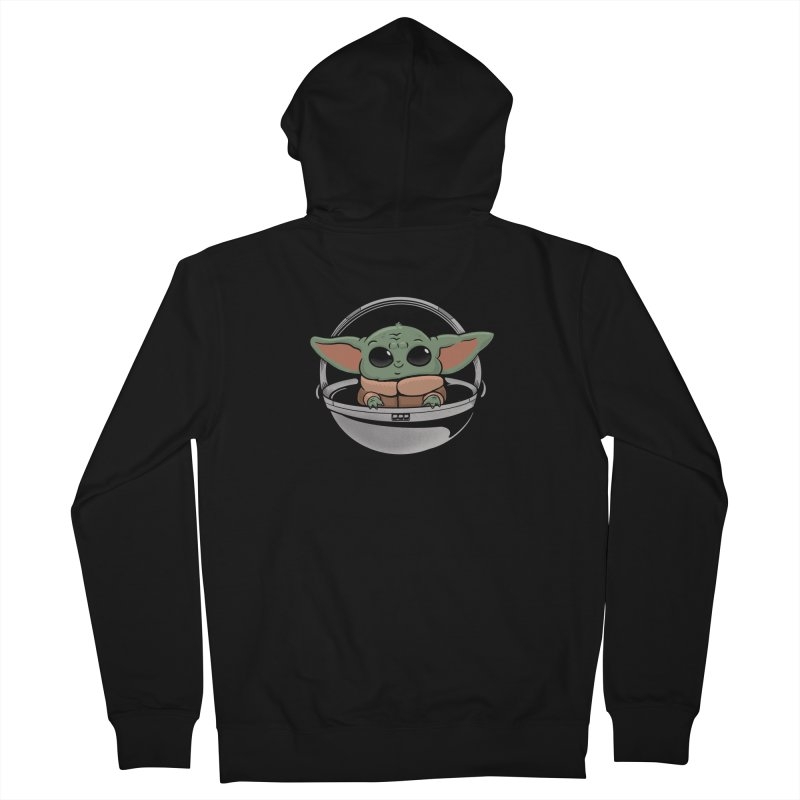 Baby Yoda Men's French Terry Zip-Up Hoody by Pepe Rodríguez