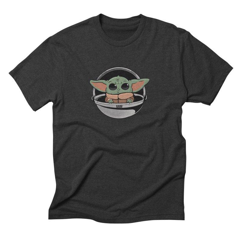 Baby Yoda Men's Triblend T-Shirt by Pepe Rodríguez