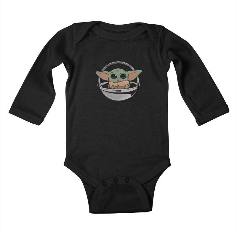 Baby Yoda Kids Baby Longsleeve Bodysuit by Pepe Rodríguez