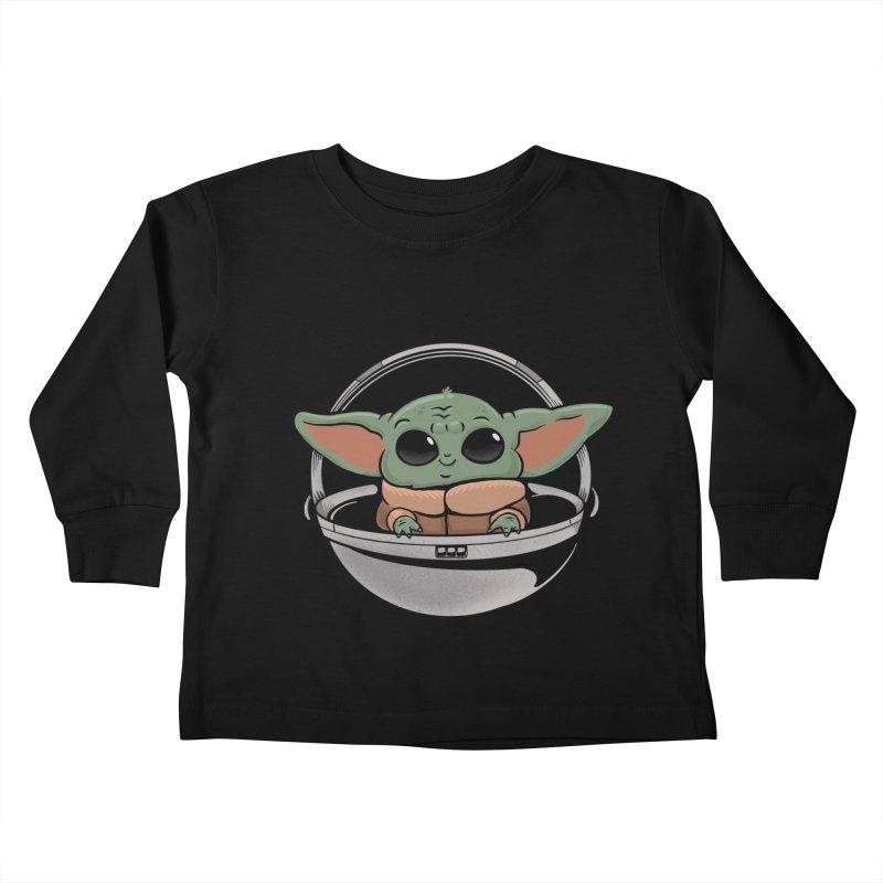 Baby Yoda Kids Toddler Longsleeve T-Shirt by Pepe Rodríguez