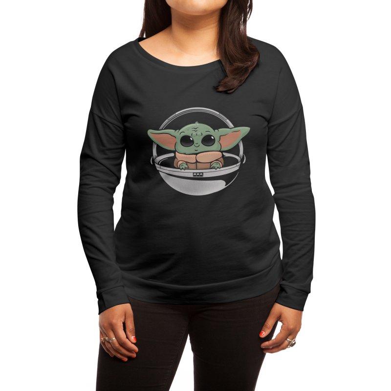 Baby Yoda Women's Longsleeve T-Shirt by Pepe Rodríguez