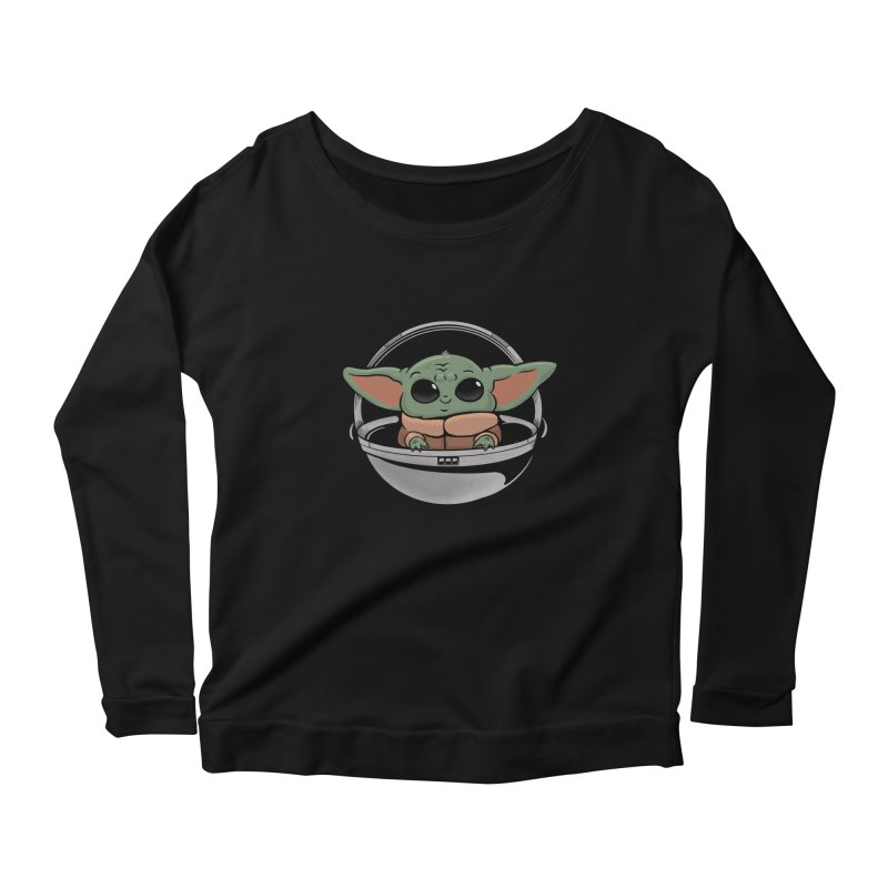 Baby Yoda Women's Scoop Neck Longsleeve T-Shirt by Pepe Rodríguez