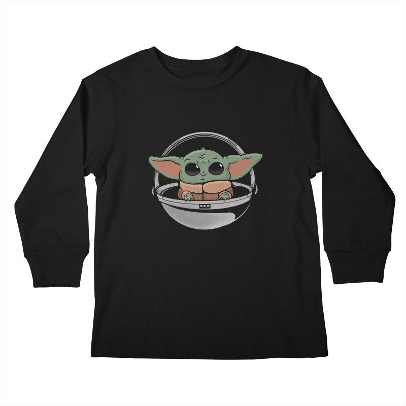 Baby Yoda Kids Longsleeve T-Shirt by Pepe Rodríguez