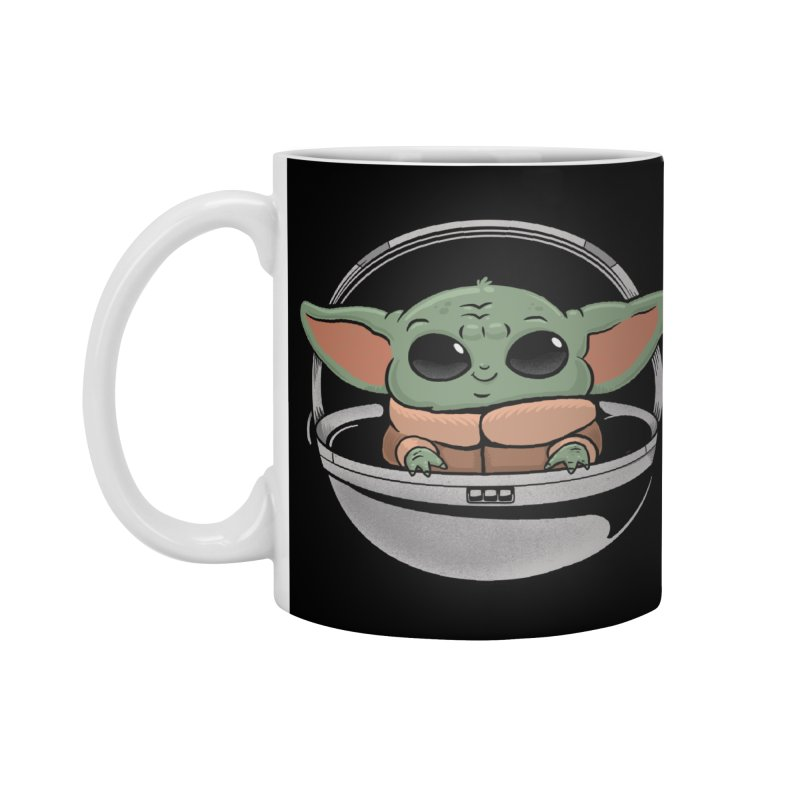 Baby Yoda Accessories Standard Mug by Pepe Rodríguez