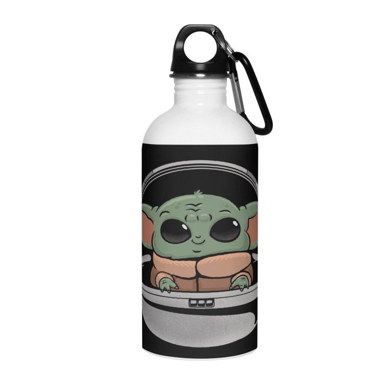 Baby Yoda Accessories Water Bottle by Pepe Rodríguez