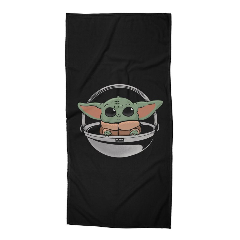 Baby Yoda Accessories Beach Towel by Pepe Rodríguez