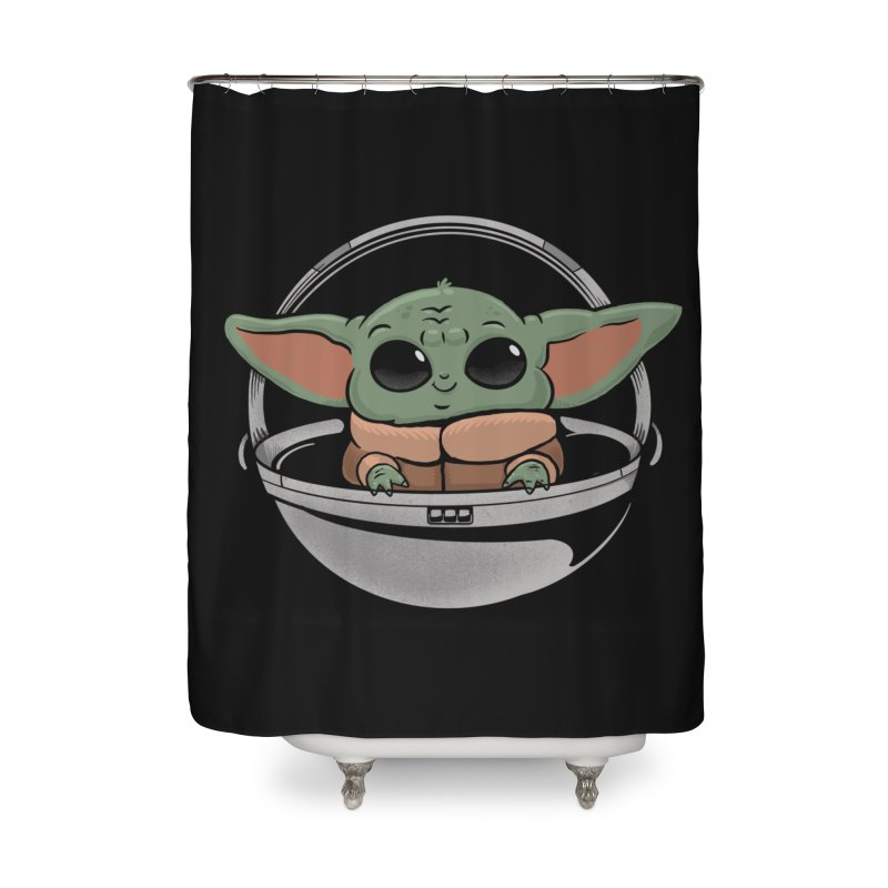 Baby Yoda Home Shower Curtain by Pepe Rodríguez