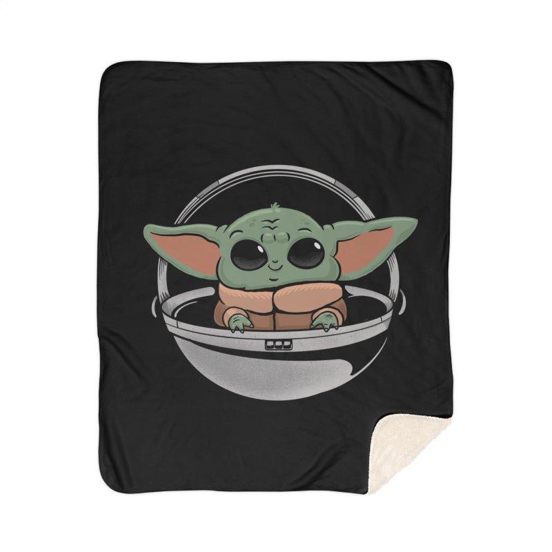 Baby Yoda Home Sherpa Blanket Blanket by Pepe Rodríguez