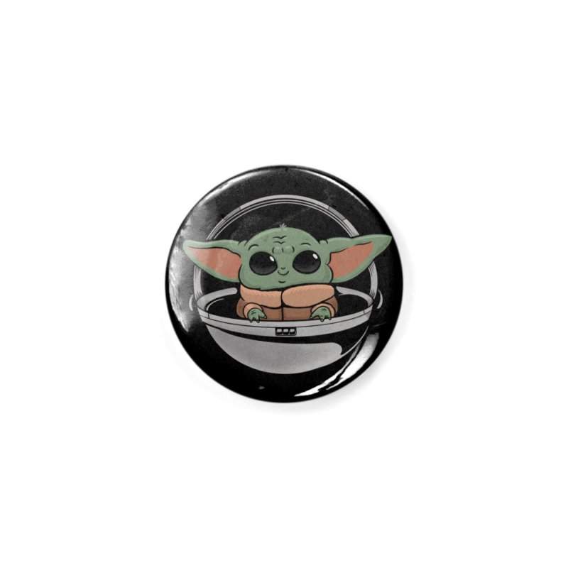 Baby Yoda Accessories Button by Pepe Rodríguez