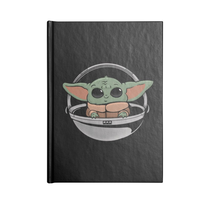 Baby Yoda Accessories Lined Journal Notebook by Pepe Rodríguez