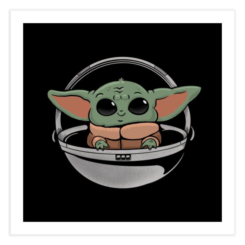Baby Yoda Home Fine Art Print by Pepe Rodríguez