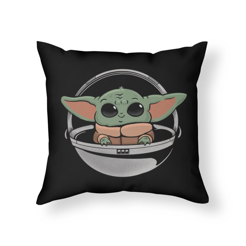 Baby Yoda Home Throw Pillow by Pepe Rodríguez