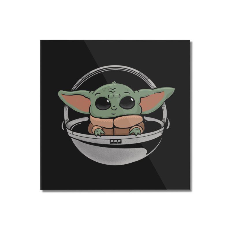Baby Yoda Home Mounted Acrylic Print by Pepe Rodríguez