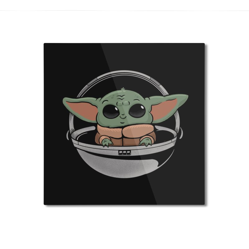 Baby Yoda Home Mounted Aluminum Print by Pepe Rodríguez