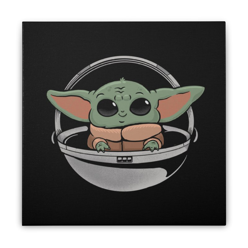Baby Yoda Home Stretched Canvas by Pepe Rodríguez