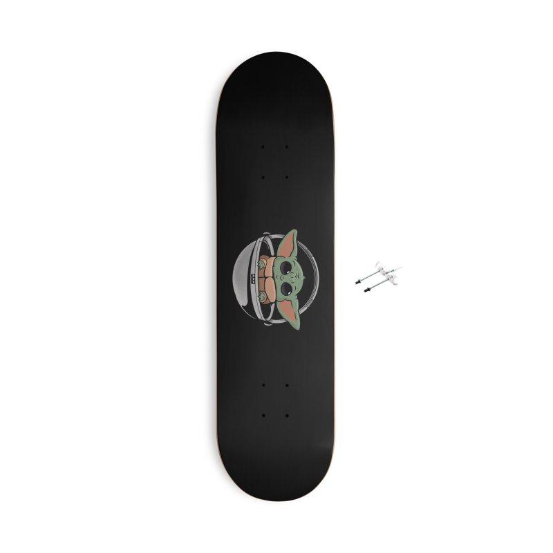 Baby Yoda Accessories Skateboard by Pepe Rodríguez