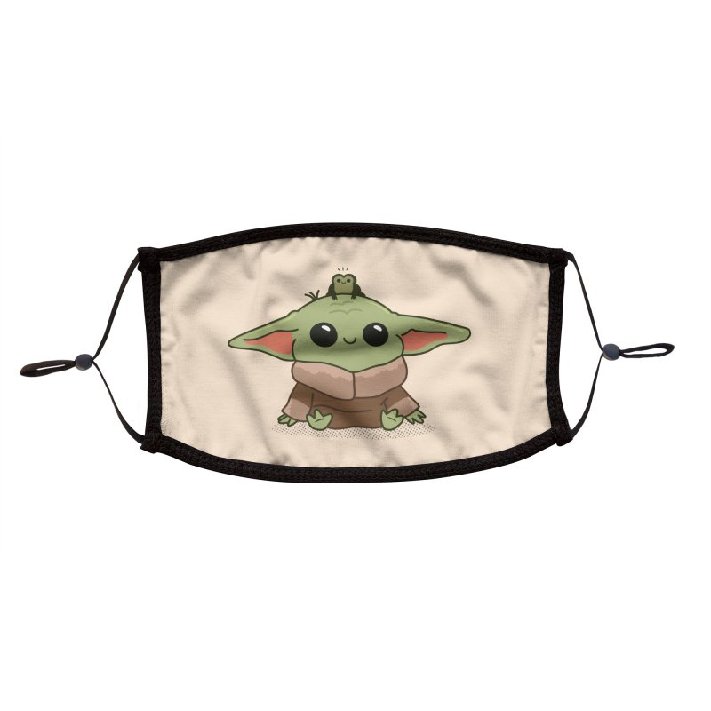 Baby Yoda and Frog Accessories Face Mask by Pepe Rodríguez