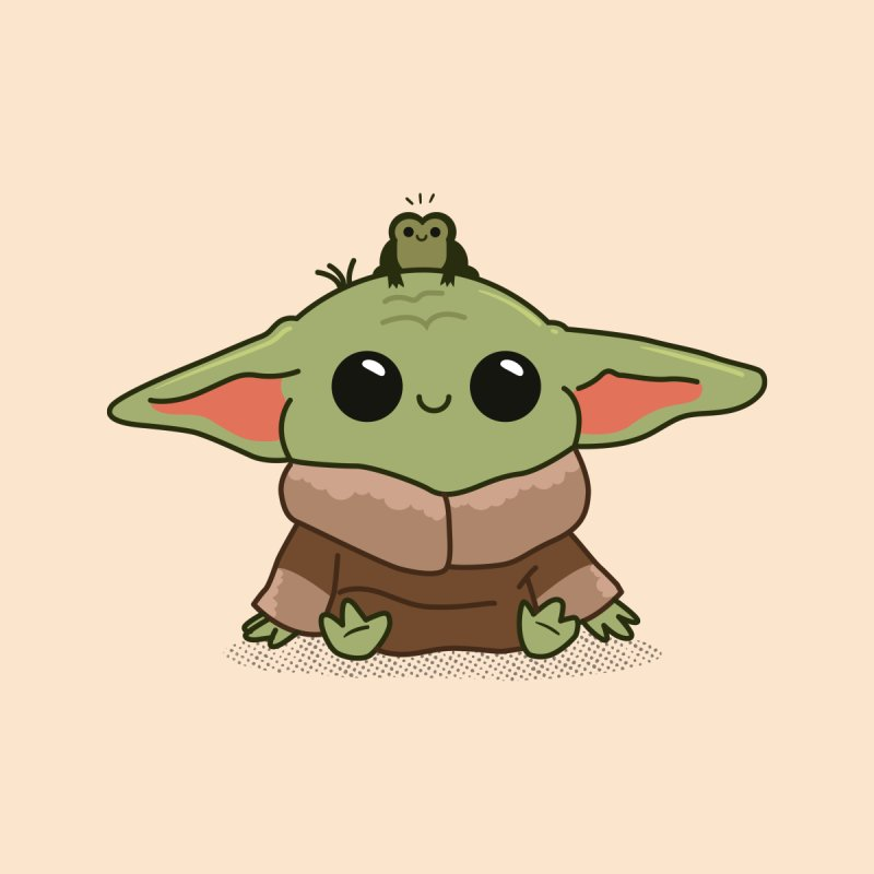 Baby Yoda and Frog Kids Baby T-Shirt by Pepe Rodríguez