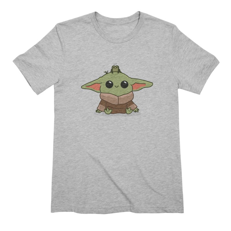 Baby Yoda and Frog Men's Extra Soft T-Shirt by Pepe Rodríguez
