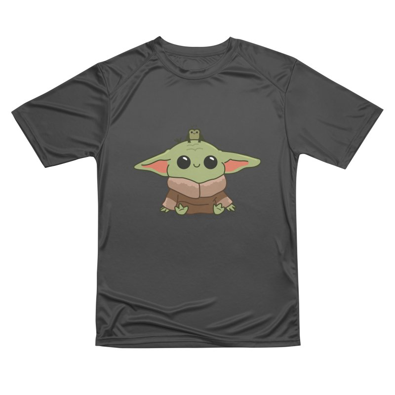 Baby Yoda and Frog Men's Performance T-Shirt by Pepe Rodríguez