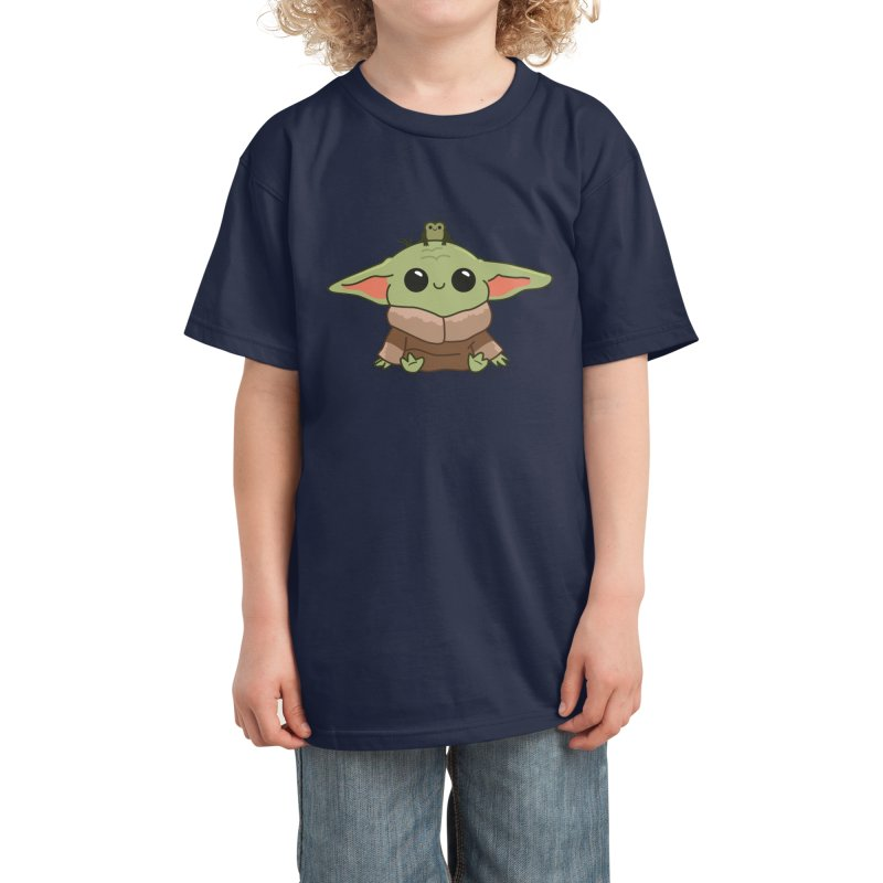 Baby Yoda and Frog Kids T-Shirt by Pepe Rodríguez