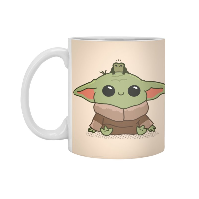 Baby Yoda and Frog Accessories Standard Mug by Pepe Rodríguez
