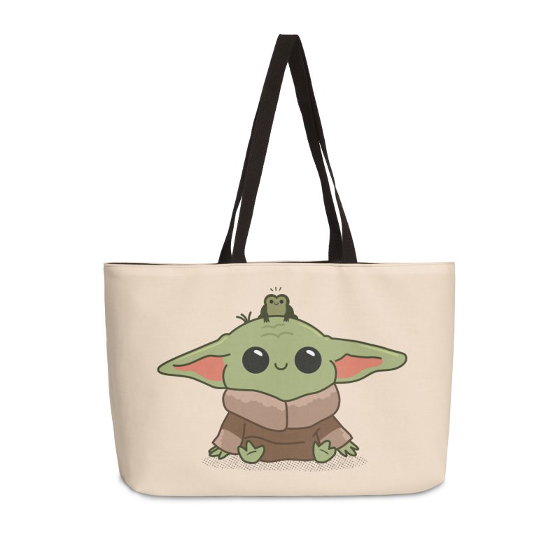 Baby Yoda and Frog Accessories Weekender Bag Bag by Pepe Rodríguez