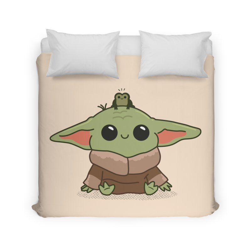 Baby Yoda and Frog Home Duvet by Pepe Rodríguez