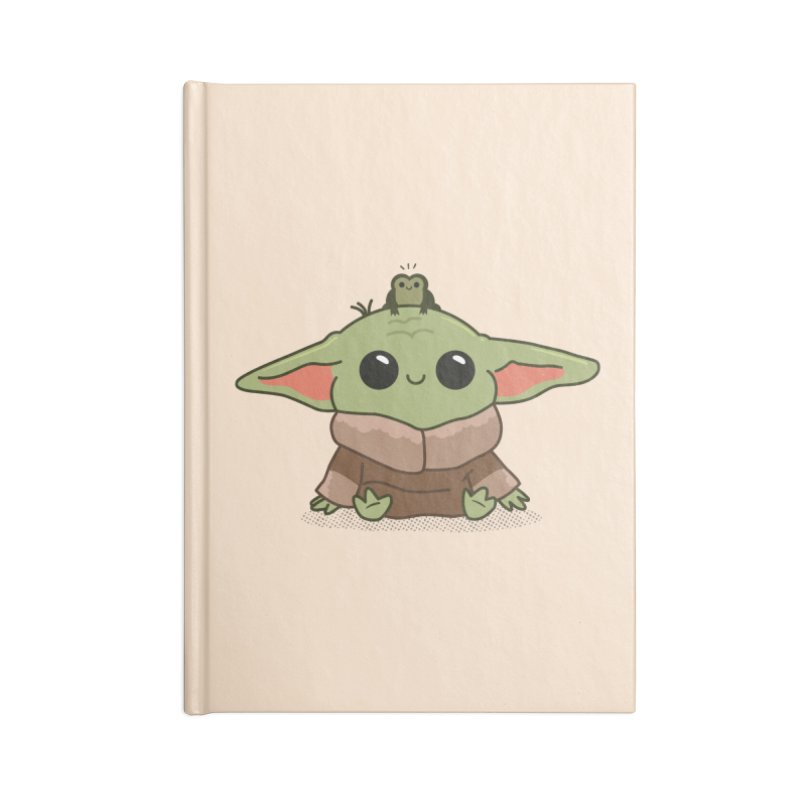 Baby Yoda and Frog Accessories Lined Journal Notebook by Pepe Rodríguez