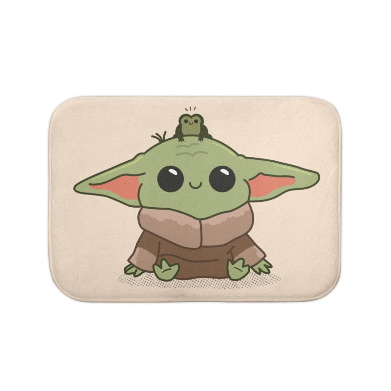 Baby Yoda and Frog Home Bath Mat by Pepe Rodríguez