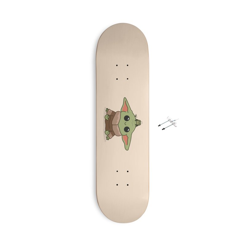 Baby Yoda and Frog Accessories Skateboard by Pepe Rodríguez