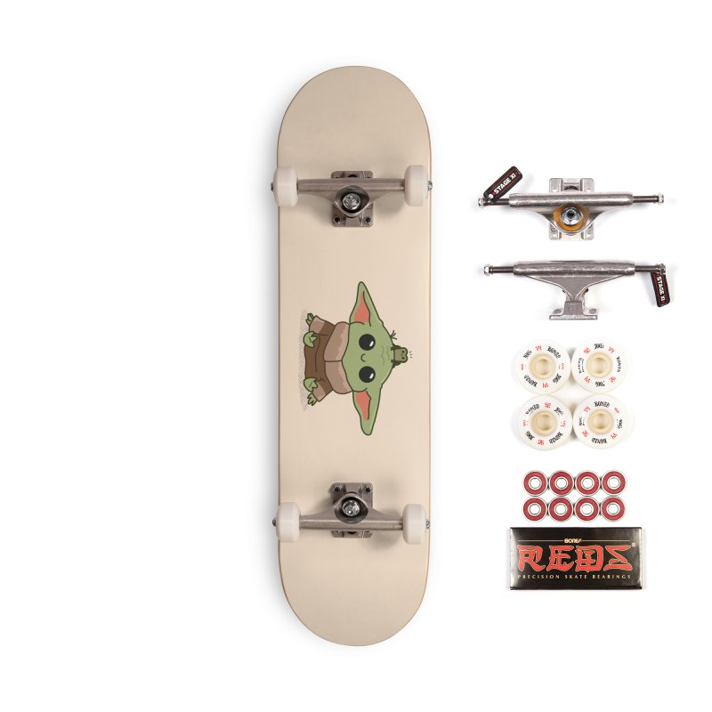 Baby Yoda and Frog Accessories Complete - Pro Skateboard by Pepe Rodríguez