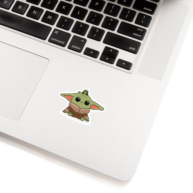 Baby Yoda and Frog Accessories Sticker by Pepe Rodríguez