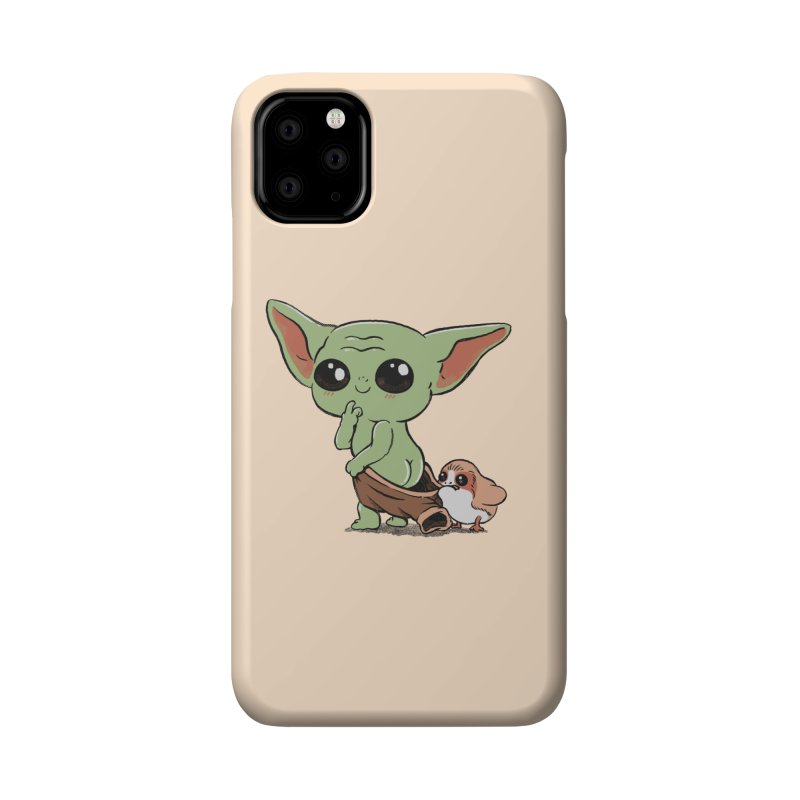 Baby Yoda and Porg Accessories Phone Case by Pepe Rodríguez