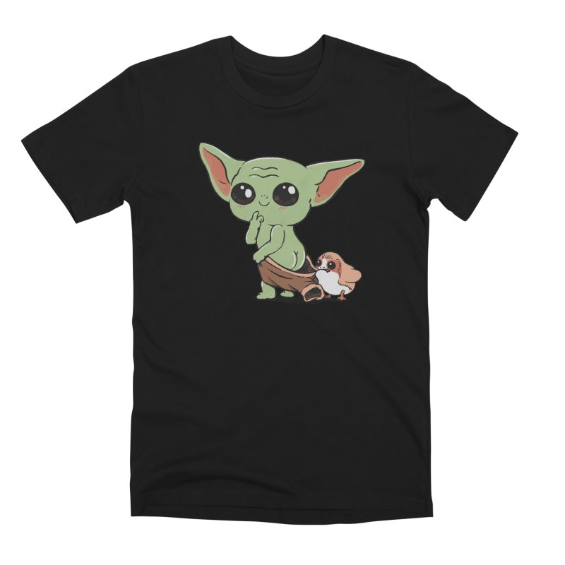 Baby Yoda and Porg Men's T-Shirt by Pepe Rodríguez