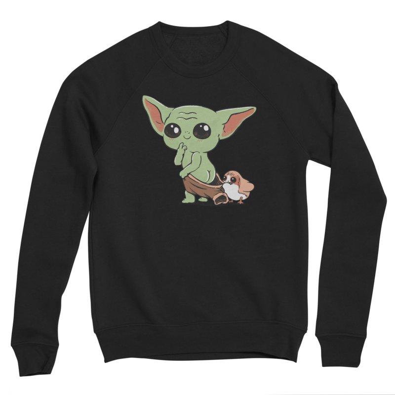 Baby Yoda and Porg Women's Sponge Fleece Sweatshirt by Pepe Rodríguez