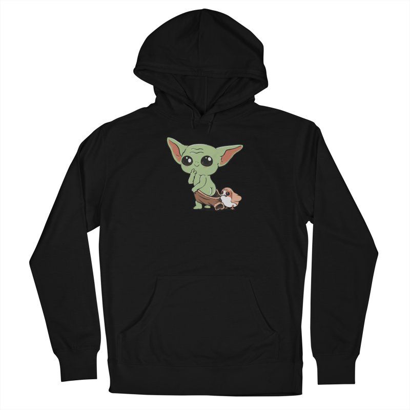 Baby Yoda and Porg Men's French Terry Pullover Hoody by Pepe Rodríguez