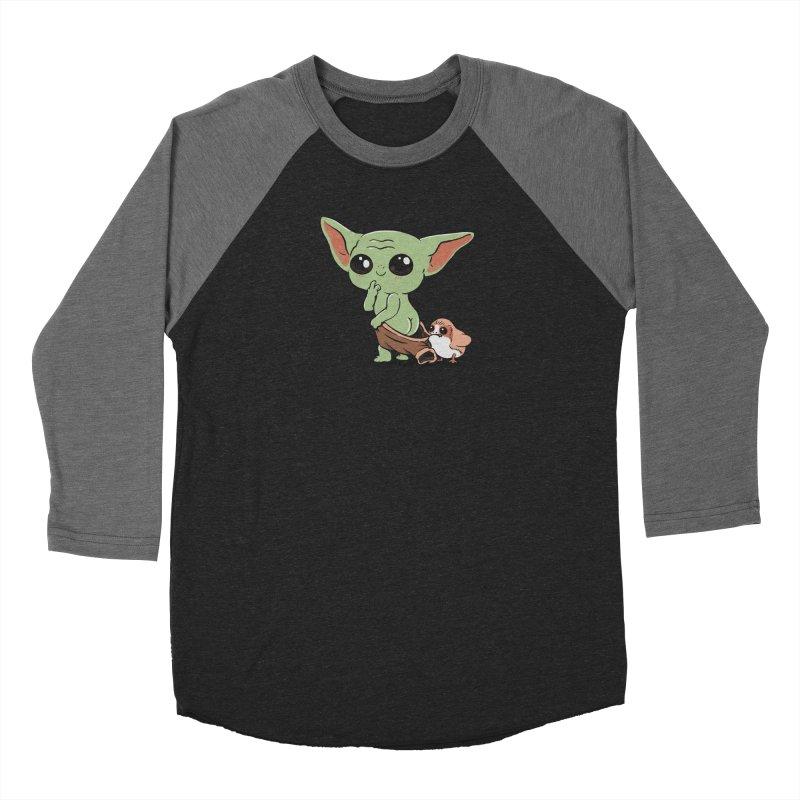 Baby Yoda and Porg Women's Baseball Triblend Longsleeve T-Shirt by Pepe Rodríguez