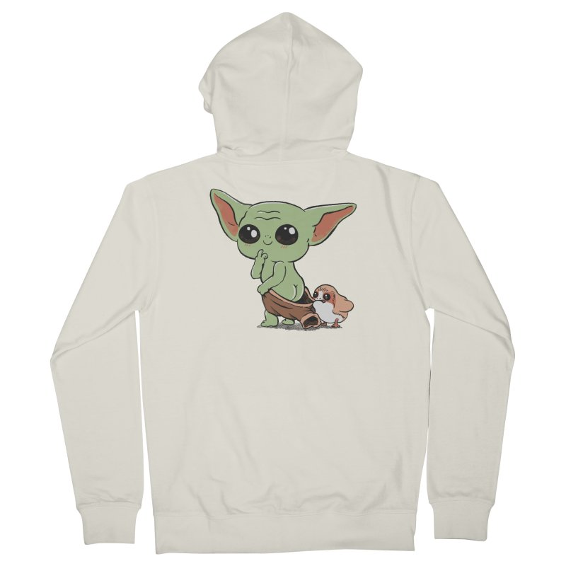 Baby Yoda and Porg Women's French Terry Zip-Up Hoody by Pepe Rodríguez