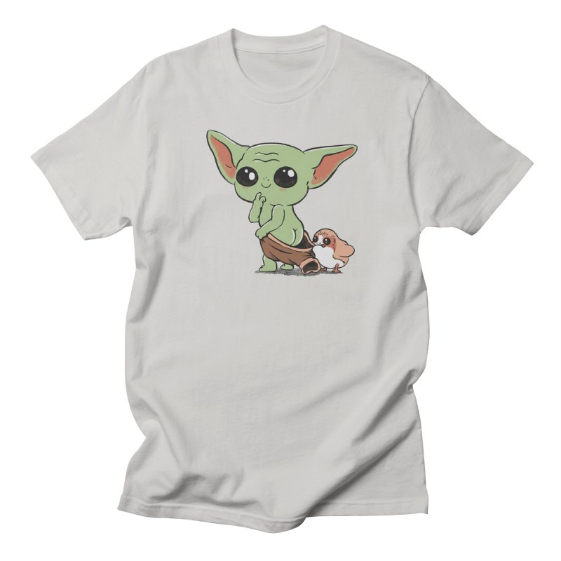 Baby Yoda and Porg Women's Regular Unisex T-Shirt by Pepe Rodríguez
