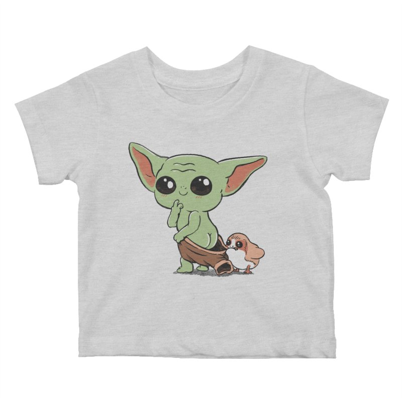 Baby Yoda and Porg Kids Baby T-Shirt by Pepe Rodríguez