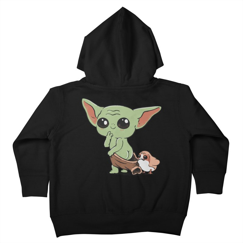 Baby Yoda and Porg Kids Toddler Zip-Up Hoody by Pepe Rodríguez