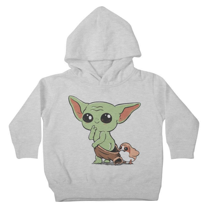 Baby Yoda and Porg Kids Toddler Pullover Hoody by Pepe Rodríguez