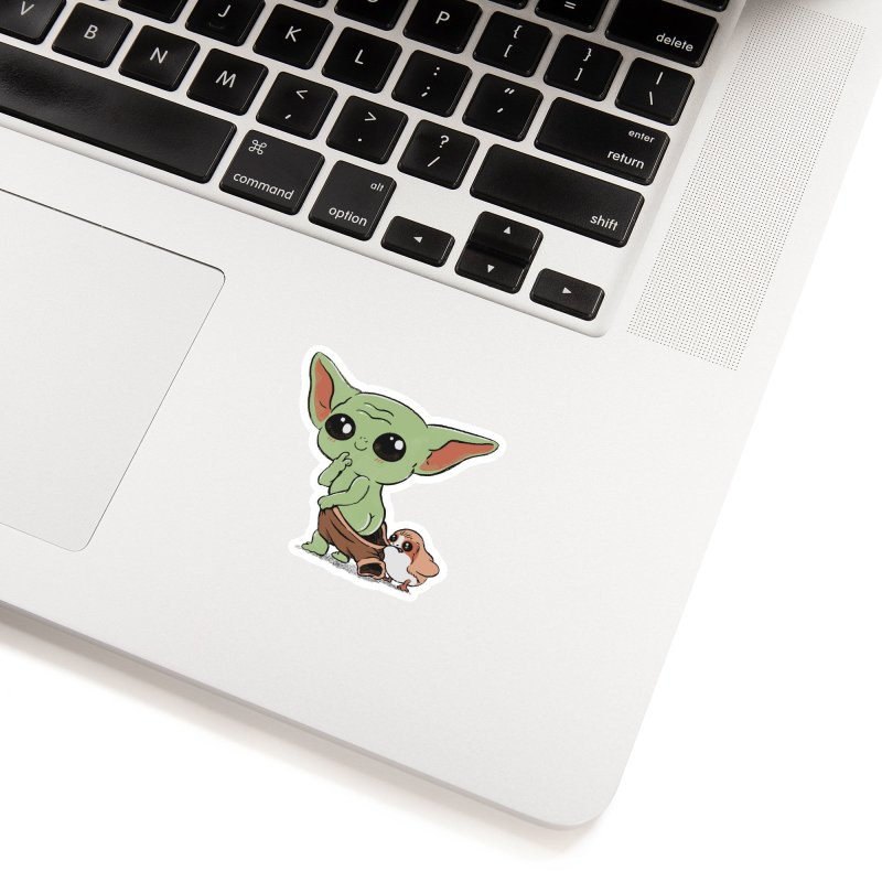 Baby Yoda and Porg Accessories Sticker by Pepe Rodríguez
