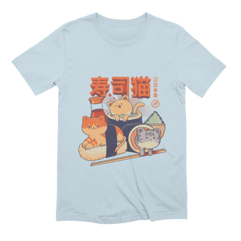 Sushi Cats Men's Extra Soft T-Shirt by Pepe Rodríguez
