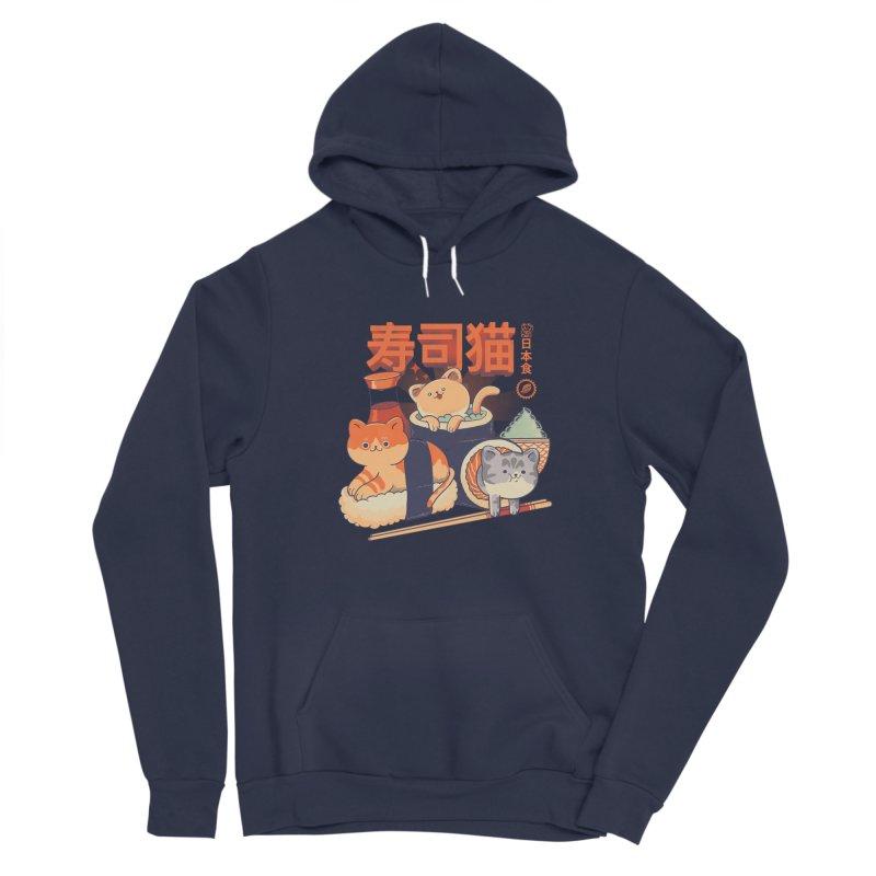 Sushi Cats Men's Sponge Fleece Pullover Hoody by Pepe Rodríguez